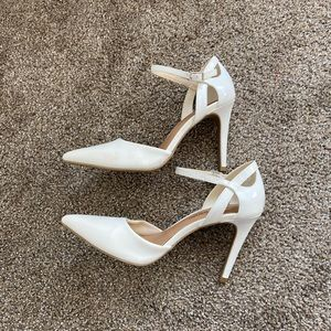 Christian Siriano for Payless White Heals 4""